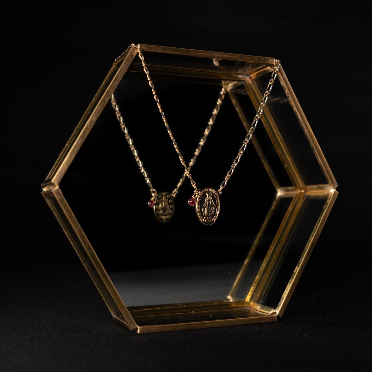 CoeurEnvie - Médaille Marie perle or - bijoux