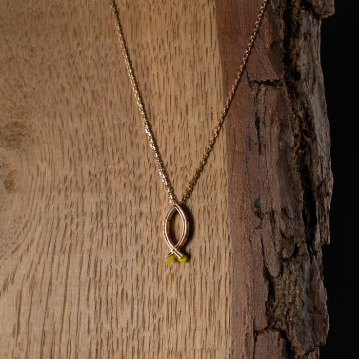 CoeurEnvie - collier poisson or - bijoux