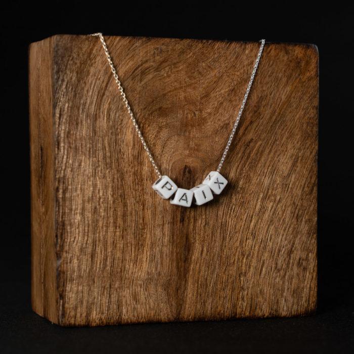 CoeurEnvie - collier paix argent acidulés - bijoux
