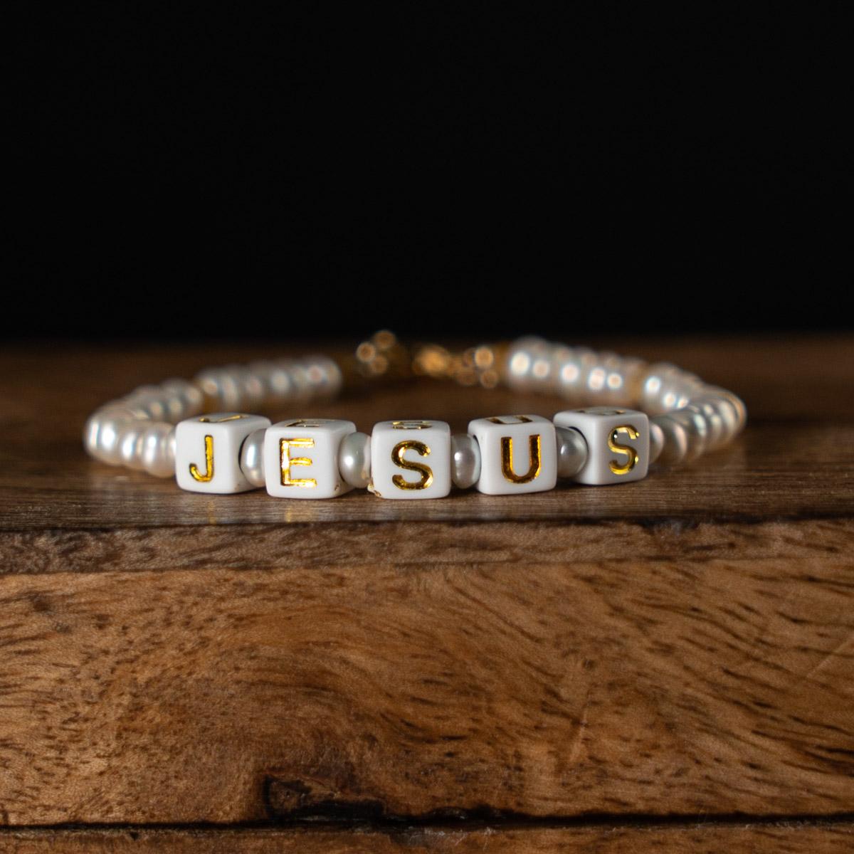 Coeur Envie - bracelet acidulés jesus or perles - bijoux