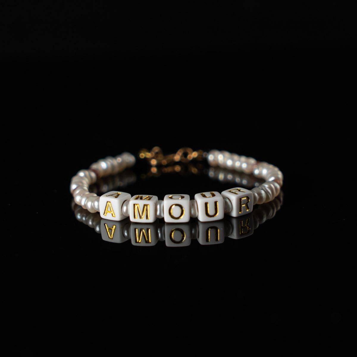 Coeur Envie - bracelet acidulés amour or perles - bijoux