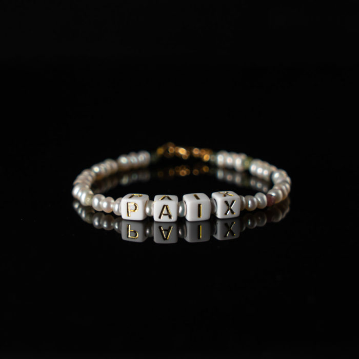 Coeur Envie - bracelet acidulés paix or perles - bijoux