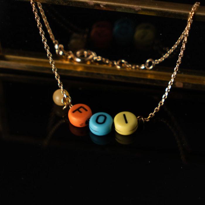 Coeur Envie - bracelet acidulés foi or perles - bijoux