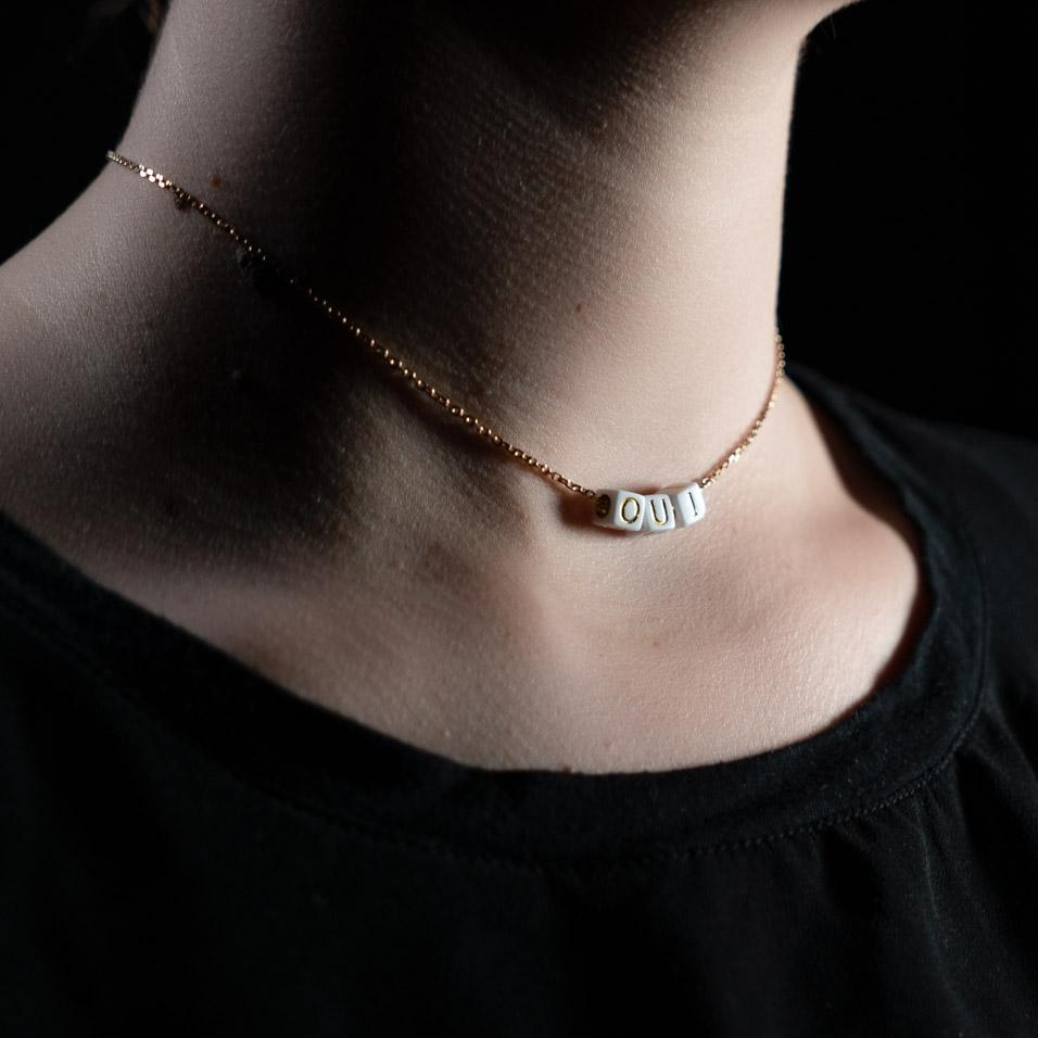 Coeur Envie - oui acidulés perle or - bijoux
