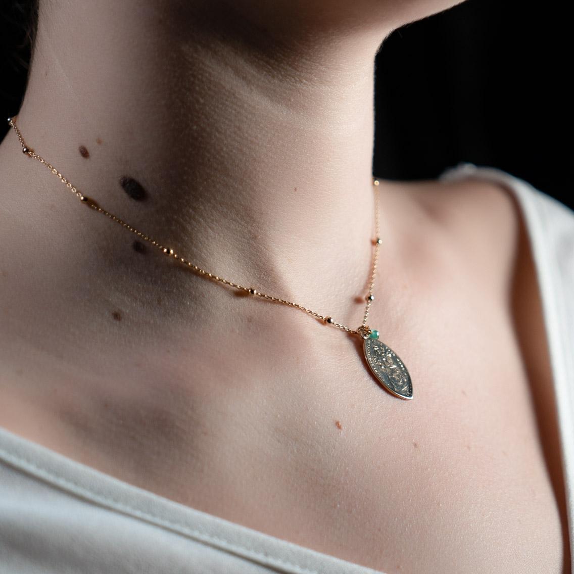 Coeur Envie - marie perle médaille or - bijoux