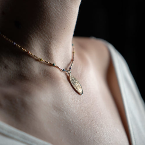 Coeur Envie - marie perle médaille - bijoux