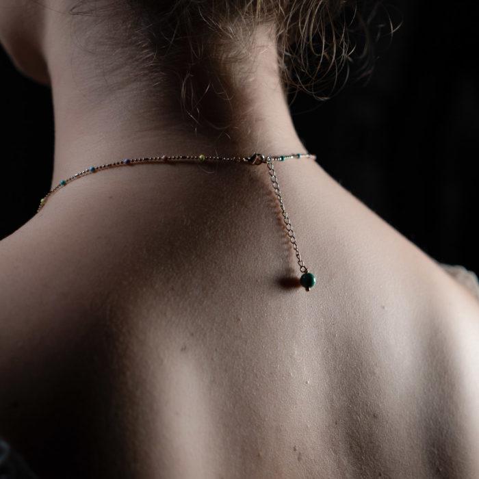 Coeur Envie - chaine perle dos - bijoux