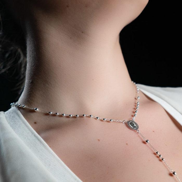 Coeur Envie - Chapelet argent - bijoux